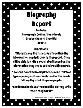 Biography Report Unit