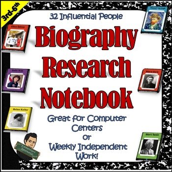 Biography Research Project Notebook