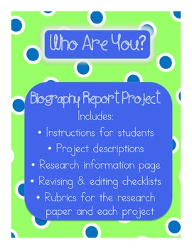 Biography Research Paper and Project