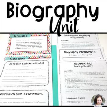 Biography Unit - Reading and Writing Workshop