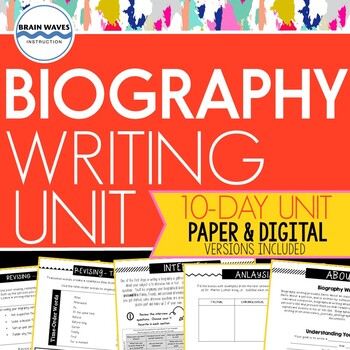 Biography Writing Unit:  Writing Biographical Sketches abo