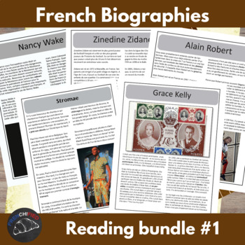 Biography bundle - for intermediate/advanced French learners