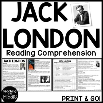 Biography of Jack London Reading Comprehension Worksheet-