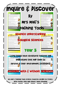 Biological Sciences - Year 5 With & Without Websites - Aus