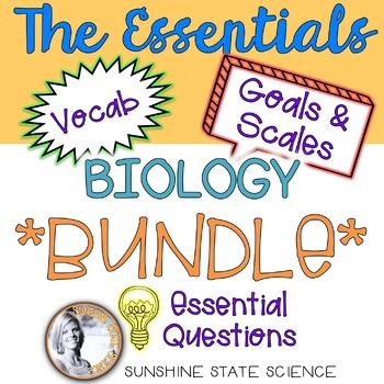 Biology Essential Resources Bulletin Board *BUNDLE*