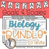 Biology BUNDLE Marzano Scales