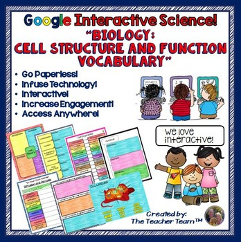 Google Drive Biology Cell Structure and Function Vocabular