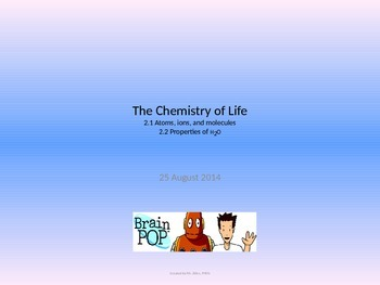 Biology - Chemistry of Life
