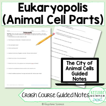 Biology Crash Course Parts of Eukaryotic Cell Guided Notes