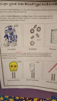 Biology - Forensics - Design your own blood type antigen a