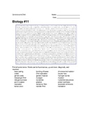 Biology #11 - Genetics and DNA - Wordsearch Puzzle