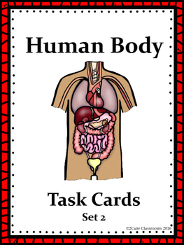 Biology Task Cards: Human Body Set 2