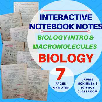 Biology Interactive Notebook - Biology Intro and Macromole