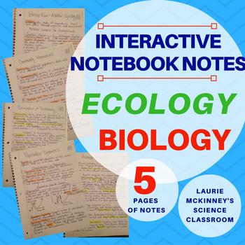 Biology Interactive Notebook - Ecology