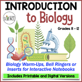Biology Interactive Notebook Pages or Warm Ups: Intro to S