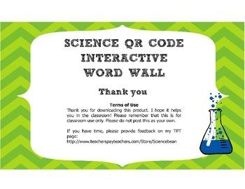 Biology Interactive Word Wall! - QR Code Vocab strips