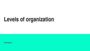 Biology Lesson 1: Levels of Organization