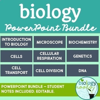 Biology PowerPoint Notes Bundle 1