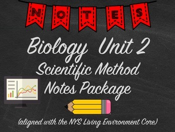 Biology Scientific Method Notes Package Aligned with NYS L
