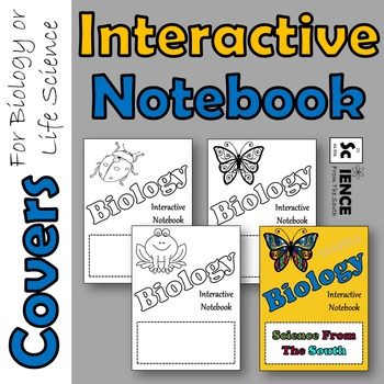 Interactive Notebook Covers for Biology and Life Science