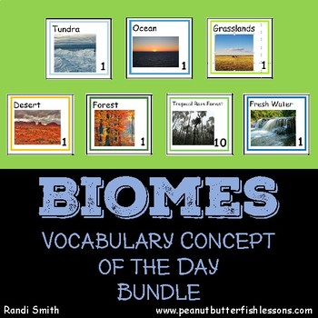 Biome Calendar Card Bundle (6 Biomes)