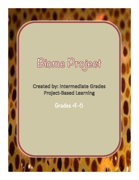 Biome Research Project Grades 4-6 Common Core Writing