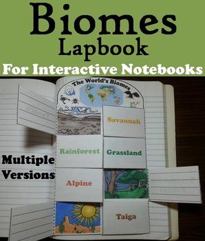 Biomes Interactive Notebook: Animal Habitats Activity Fold