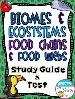 Biomes, Ecosystems, Food Chains, and Food Webs Study Guide
