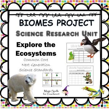 Biomes Project -Research Ecosystems  NO PREP PRINTABLES -S