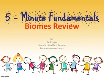 Biomes Review - For Secondary Students