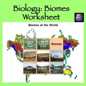 Biomes Worksheet
