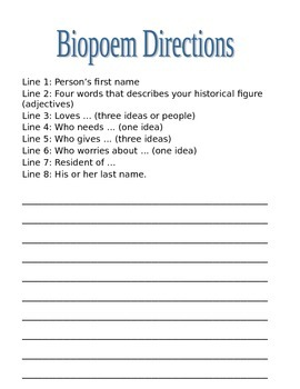 Biopoem