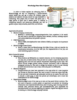 Biotechnology Project Assignment--Research