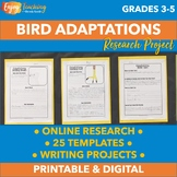 Bird Adaptations Jigsaw Research Project - Fourth and Fifth Grade