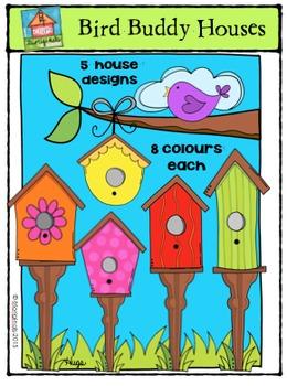 Bird Buddy Houses {P4 Clips Trioriginals Digital Clip Art}