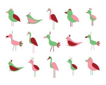 Bird Clipart, Digital Clipart, Digital Design, Bird Clipar