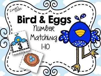 Bird & Eggs Number Matching 1-10