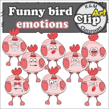 Bird Emotions Clip Art