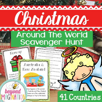 Christmas Around The World Scavenger Hunt & Posters