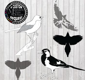 Bird Pack Clip Art {Messare Clips and Design}