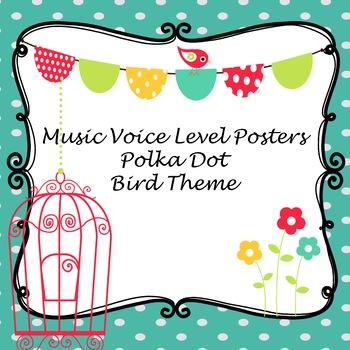Bird Polka Dots Music Dynamic Levels