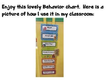 Bird Theme Behavior Clipchart