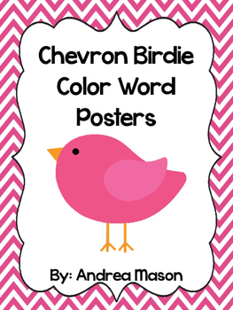 Bird Theme Chevron Color Posters
