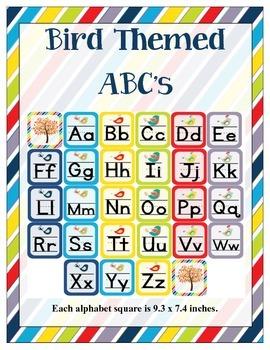 Bird Themed Classroom ABC Printables