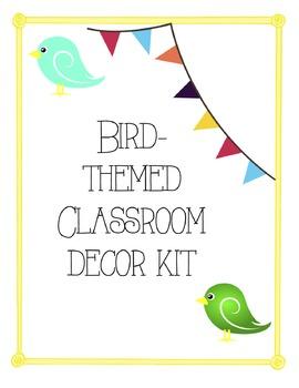 Bird-Themed Classroom Decor Kit