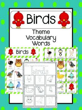 Bird Vocabulary Cards