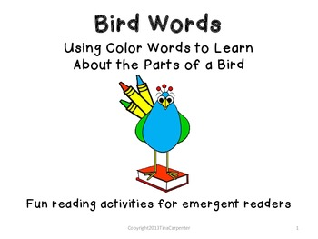 Reading Packet: Using Color Words to Learn about the Parts