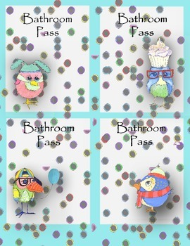 Birdie Bathroom passes
