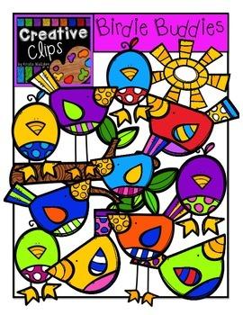 Birdie Buddies {Creative Clips Digital Clipart}