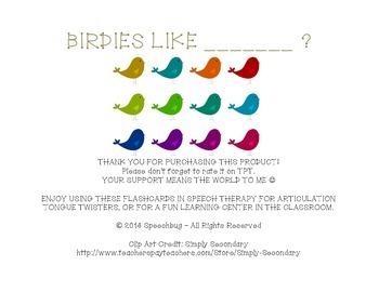 Birdies Like... B Articulation Practice!